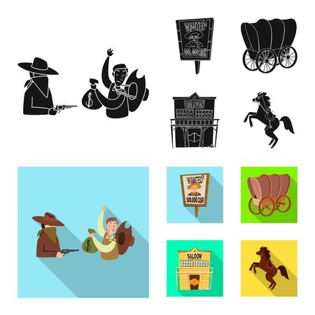 Objeto aislado de texas y símbolo de la historia. Colección de símbolo de stock de texas y cultura para web.
