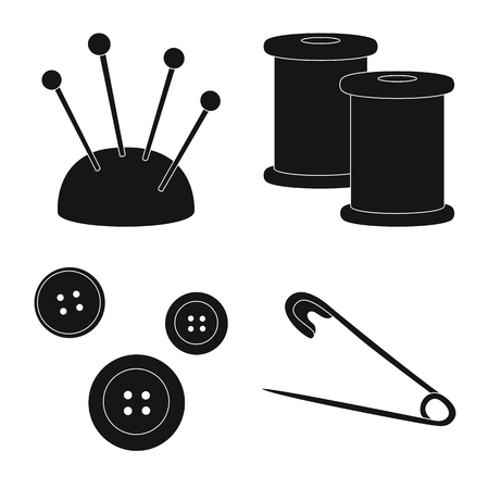 Vector illustration of studio and industry icon. Set of studio and sewing stock vector illustration.