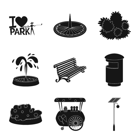 Isolated object of public and relaxation sign. Collection of public and park vector icon for stock. Banque d'images - 123654988