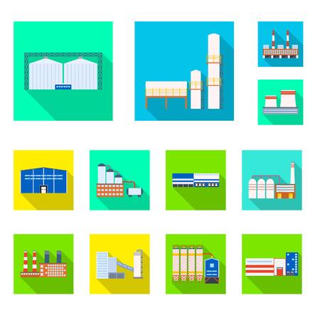 Illustration vectorielle du signe de l'architecture et de la technologie. Ensemble d'architecture et de symbole boursier du bâtiment pour le web.