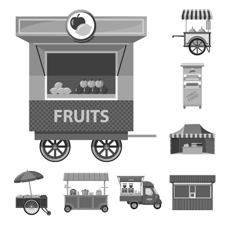 Vector design of market and exterior icon. Collection of market and food vector icon for stock.