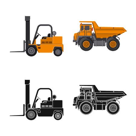 Illustration vectorielle de l'icône de construction et de construction. Collection d'icônes vectorielles de construction et de machines pour le stock.