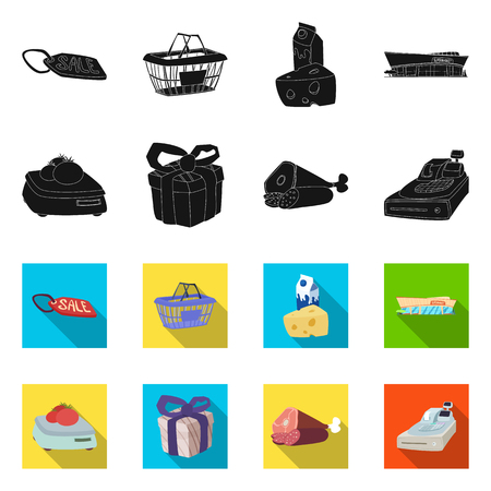 Vector design of food and drink icon. Set of food and store stock vector illustration.