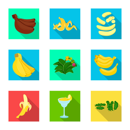 Isolated object of natural and vegetarian symbol. Set of natural and eating vector icon for stock. Stok Fotoğraf - 124070077