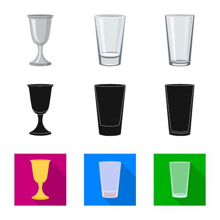 Vector illustration of form and celebration logo. Set of form and volume stock vector illustration.  イラスト・ベクター素材