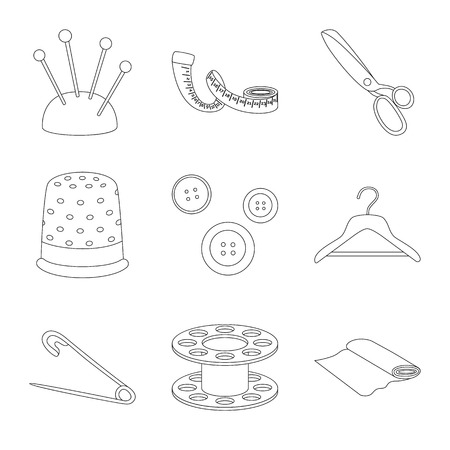 Vector design of fashion and tailoring icon. Set of fashion and textile vector icon for stock. Illustration