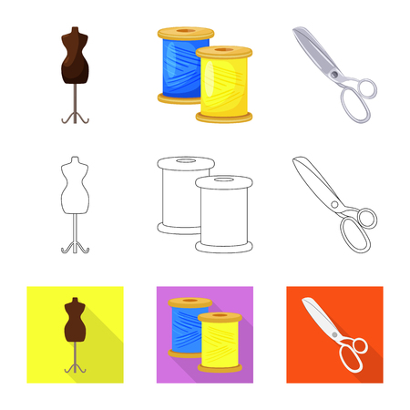 Vector illustration of craft and handcraft sign. Collection of craft and industry stock vector illustration.