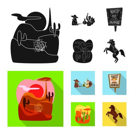 Objeto aislado de texas e icono de historia. Conjunto de símbolo de stock de texas y cultura para web. Ilustración de vector