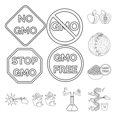 Isolated object of genetic and science logo. Collection of genetic and organic stock vector illustration.