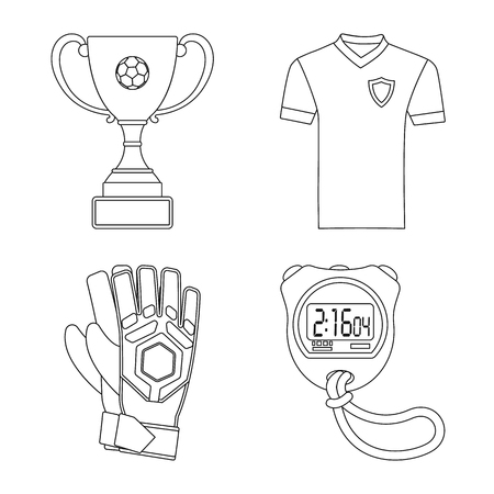 Vector design of soccer and gear logo. Collection of soccer and tournament stock vector illustration. Vectores