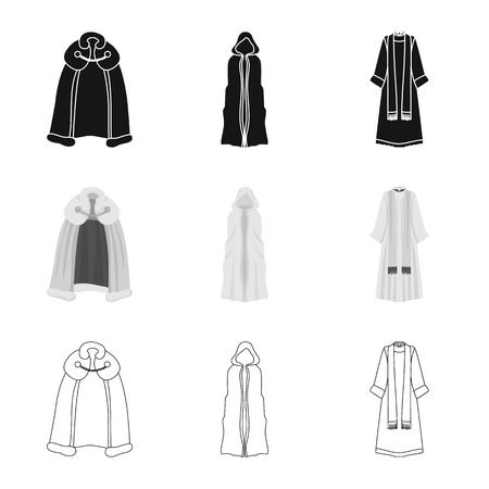 Vector design of material and clothing symbol. Collection of material and garment stock vector illustration. Ilustração