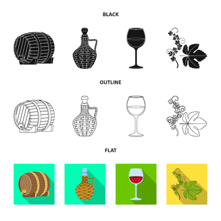 Isolated object of farm and vineyard icon. Set of farm and product stock symbol for web.