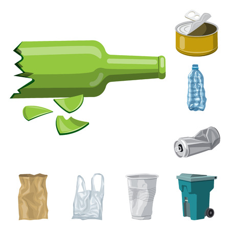 Vector design of environment  and waste symbol. Set of environment  and ecology stock symbol for web. Illustration