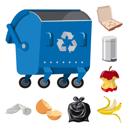 Isolated object of environment  and waste sign. Collection of environment  and ecology vector icon for stock.