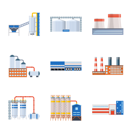 Vector design of industry and building symbol. Set of industry and construction vector icon for stock. Reklamní fotografie - 124332396