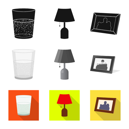 Isolated object of dreams and night symbol. Collection of dreams and bedroom vector icon for stock.