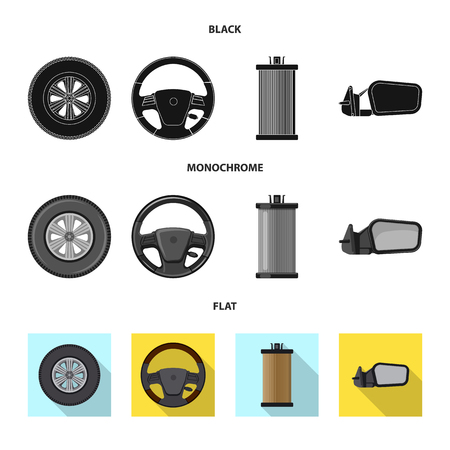Isolated object of auto and part icon. Set of auto and car stock symbol for web. Ilustração