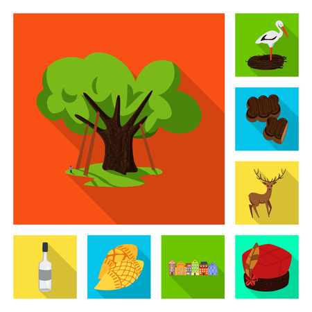 Vector illustration of traditional and tour symbol. Collection of traditional and landmarks stock symbol for web.