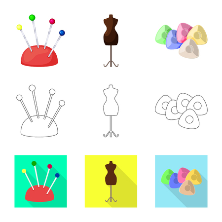 Vector illustration of craft and handcraft icon. Set of craft and industry vector icon for stock.