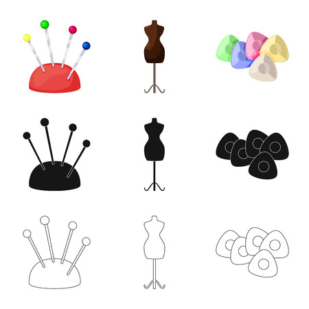 Isolated object of craft and handcraft icon. Collection of craft and industry stock symbol for web.