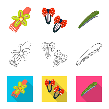 Isolated object of beauty and fashion sign. Collection of beauty and female vector icon for stock.
