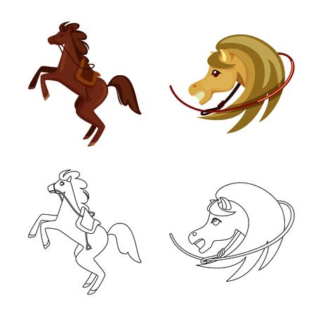 Vector illustration of texas and history logo. Collection of texas and culture vector icon for stock. 版權商用圖片 - 124399159