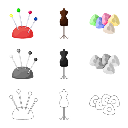 Isolated object of craft and handcraft sign. Set of craft and industry vector icon for stock. Çizim