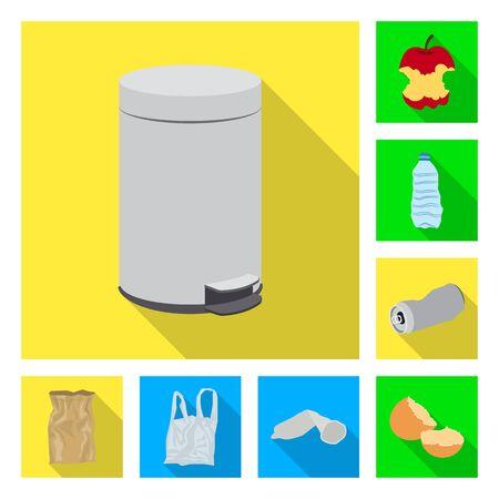 Vector illustration of dump  and sort logo. Set of dump  and junk stock vector illustration. Illustration