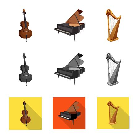Vector design of music and tune symbol. Collection of music and tool vector icon for stock.