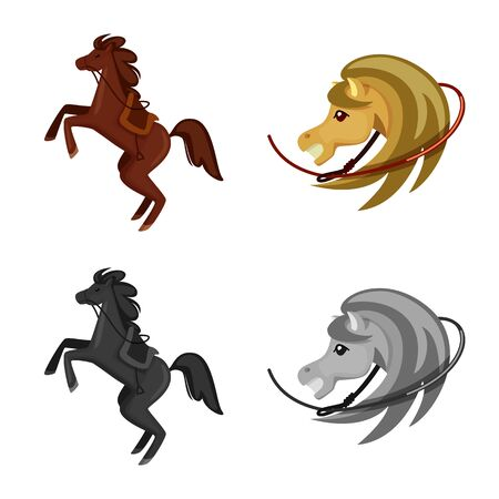 Vector design of texas and history icon. Set of texas and culture vector icon for stock.