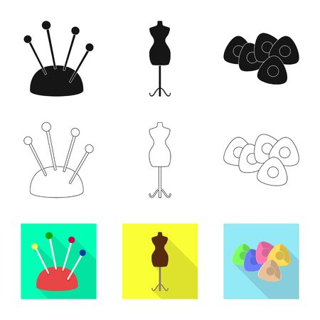 Isolated object of craft and handcraft sign. Set of craft and industry vector icon for stock. Illustration