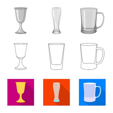 Vector design of form and celebration icon. Collection of form and volume vector icon for stock.