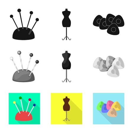 Vector illustration of craft and handcraft icon. Set of craft and industry stock vector illustration.