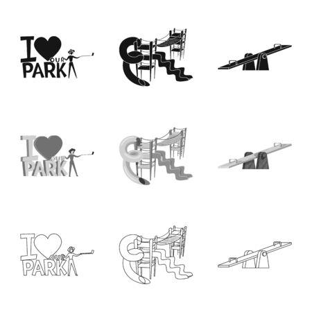 Vector illustration of urban and street symbol. Collection of urban and relaxation stock vector illustration.
