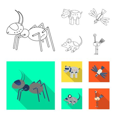 Vector illustration of toy and science icon. Set of toy and toy vector icon for stock. 일러스트