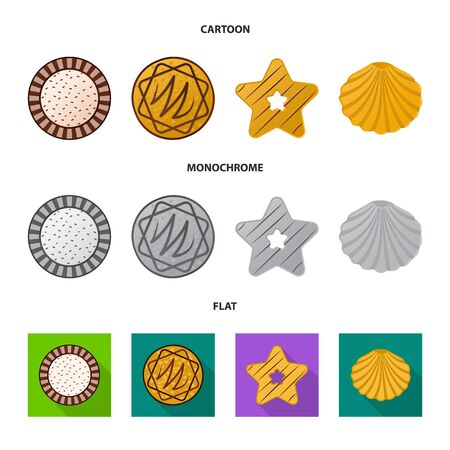 Vector design of biscuit and bake icon. Collection of biscuit and chocolate stock symbol for web.