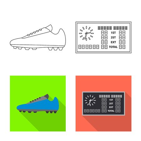 Vector design of soccer and gear icon. Set of soccer and tournament vector icon for stock. Illustration