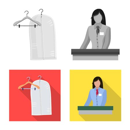 Vector illustration of laundry and clean icon. Set of laundry and clothes stock vector illustration.