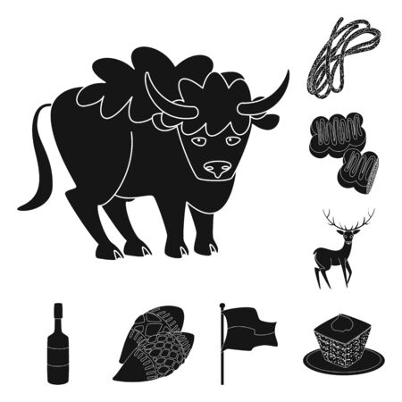 Isolated object of heritage and landmarks icon. Collection of heritage and travel vector icon for stock. Ilustração