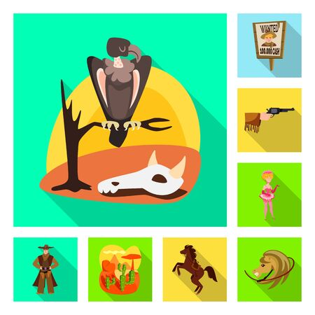 Isolated object of texas and history logo. Collection of texas and culture vector icon for stock. Vectores