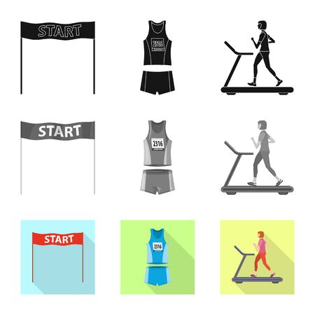 Isolated object of sport  and winner symbol. Set of sport  and fitness  vector icon for stock.