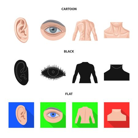 Isolated object of human and part icon. Set of human and woman vector icon for stock. Ilustração