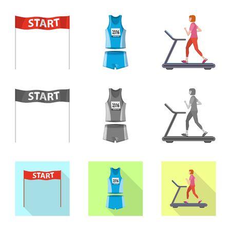 Vector illustration of sport  and winner symbol. Collection of sport  and fitness  stock vector illustration. 向量圖像