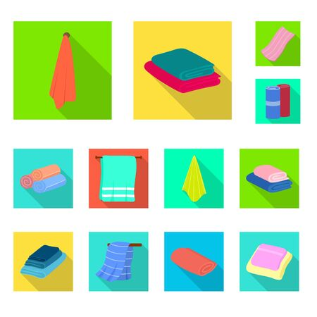 Vector design of soft and clean symbol. Set of soft and household vector icon for stock. Stok Fotoğraf - 124653651