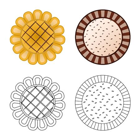 Vector illustration of biscuit and bake logo. Collection of biscuit and chocolate stock symbol for web. Ilustrace