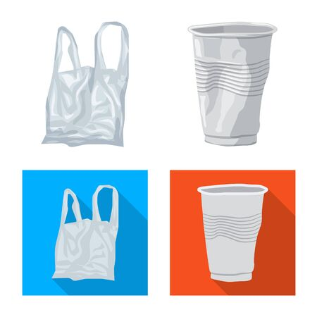 Isolated object of dump  and sort icon. Set of dump  and junk vector icon for stock. Ilustração