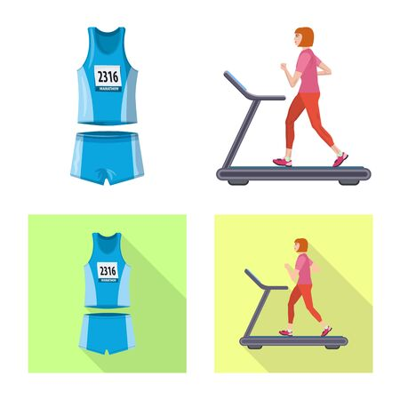 Vector design of sport  and winner logo. Collection of sport  and fitness  vector icon for stock.
