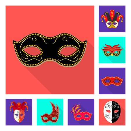 Vector design of luxury and celebration symbol. Collection of luxury and hide  stock vector illustration. 写真素材 - 124891236