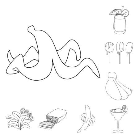 Vector design of organic and potassium sign. Set of organic and diet stock vector illustration. Ilustração