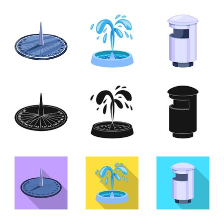 Isolated object of urban and street icon. Set of urban and relaxation stock symbol for web.